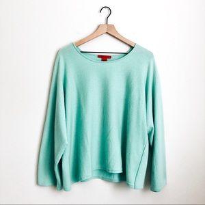 VINTAGE • shamask cashmere mint oversized sweater